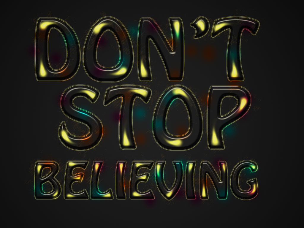 Photoshop text effect colorful